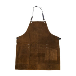Kenchi Blade handmade fine lightweight rustic cotton apron finished with genuine hide leather straps and premium metal buckles